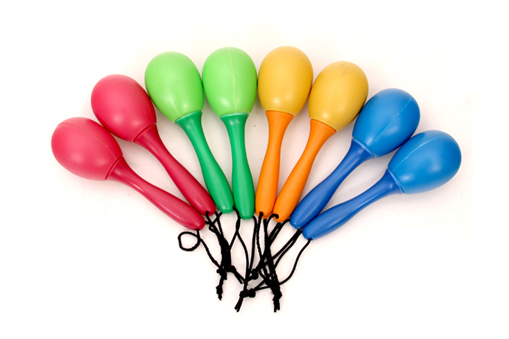Colorful mini plastic maracas for baby