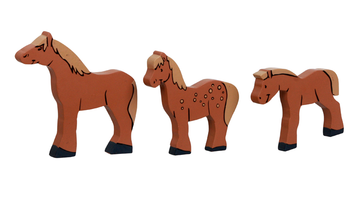 wooden horse animal maracas for musical toy
