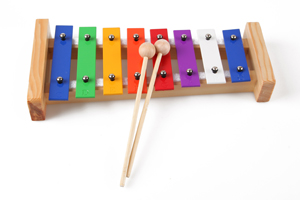 High quality rainbow 8 key xylophone