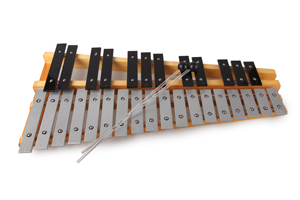 wholesale musical xylophone , percussion metal xylophone with nylon bag