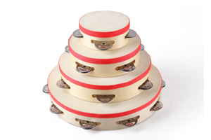 Party use handmade wood tambourine for party STH