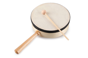 musical instrument drum set wooden toy rattle drums