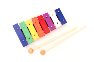 wooden handmade xylophone,8key xylophone music notes