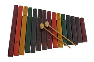 Orff musical instrument wood xylophone