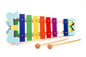 China Colorful Wooden Xylophone Baby Musical Toy