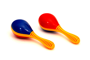 Colorful musical instruments plastic mini maracas M27