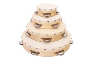 Hot sale high quality wooden toy tambourine, wholesale beautiful music instrument tambourine